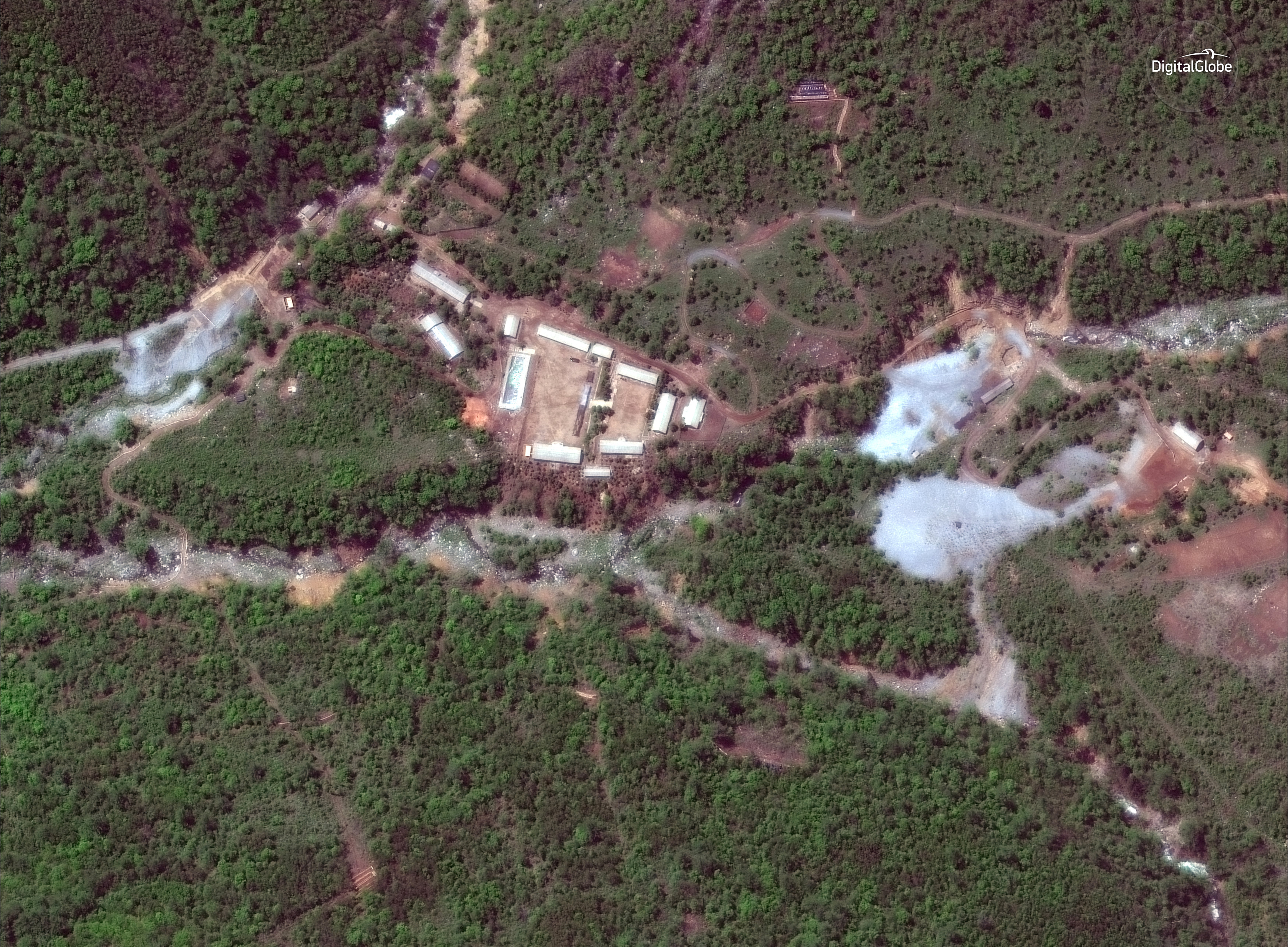 North Korea's Punggye-ri nuclear test facility is shown in this DigitalGlobe satellite image in North Hamgyong Province, North Korea, May 23, 2018.    Satellite image u00a92018 DigitalGlobe, a Maxar company/ Photo: REUTERS