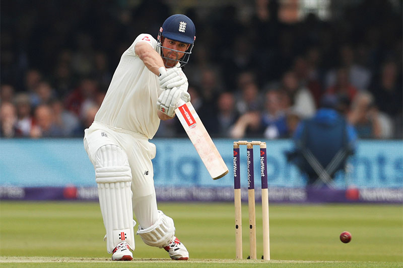 England's Alastair Cook in action. Photo: Reuters