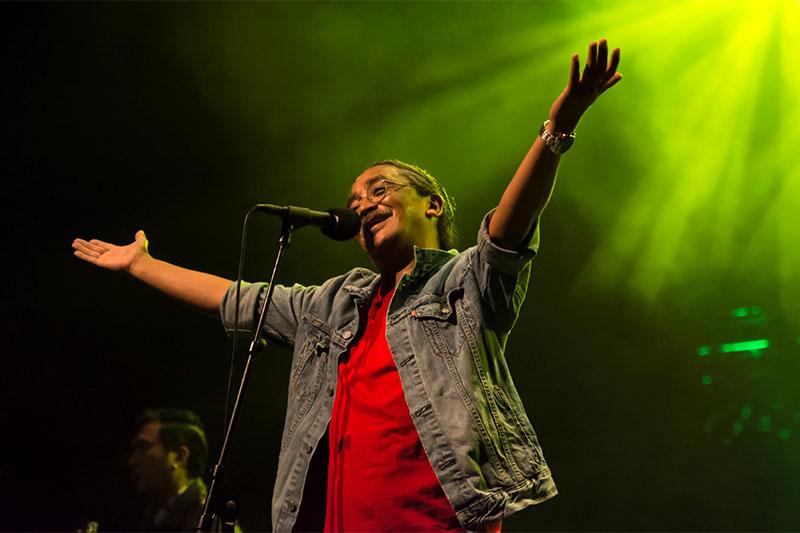File: Nepathya's lead singer Amrit Gurung. Courtesy: Nepathya