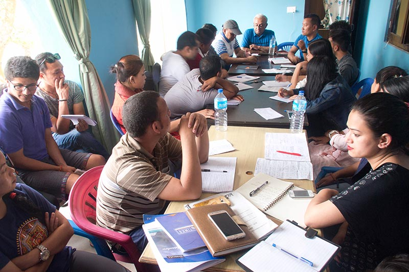 Students participate in a two-day field visit and research organised by the Central Department of Anthropology (CDA), Tribhuvan University (TU) from May 26 to May 27, in Tinthali, Kavrepalanchowk. Photo courtesy: Man Bahadur Khattri