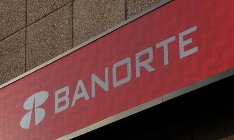 A sign of Banorte bank is pictured at its headquarters in Monterrey, Mexico, on  December 5, 2017. Photo: Reuters/ File