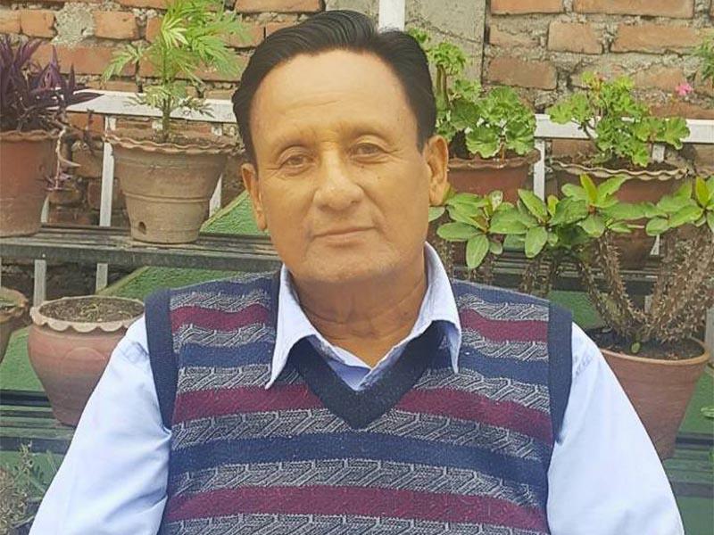 Interview with General Secretary of Unified Rastriya Prajatantra Party-Rastrabadi (URPP-R), Bharat Jung Upreti, in Kathmandu, on Sunday, May 13, 2018. Photo: Suresh Chaudhary/THT Online