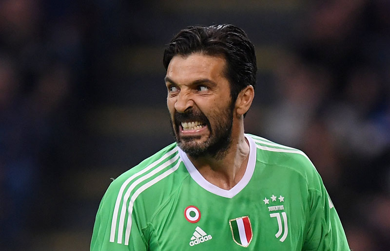 File Photo: Juventus' Gianluigi Buffon during Serie A match between Juventus and Inter Milan, at the San Siro, Milan, Italy, on April 28, 2018. Photo: Reuters