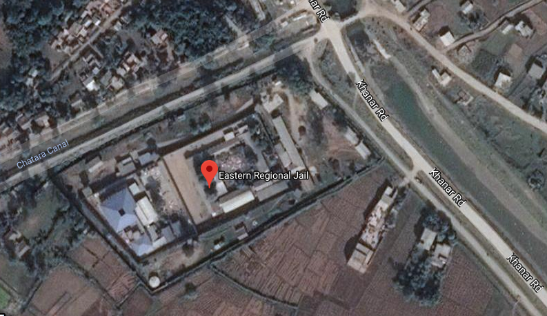 A satellite image of Eastern Regional Prison in Jhumka, Province 1. Photo: Google Maps
