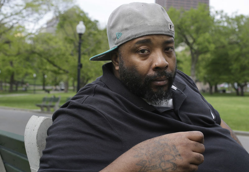 File Photo: Emory Ellis, of Boston, sits for a photo in a park, in Boston. on Wednesday May 16, 2018. Photo: Associated Press