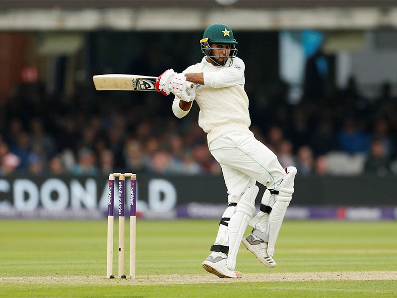 Pakistan's Faheem Ashraf in action. Photo: Reuters