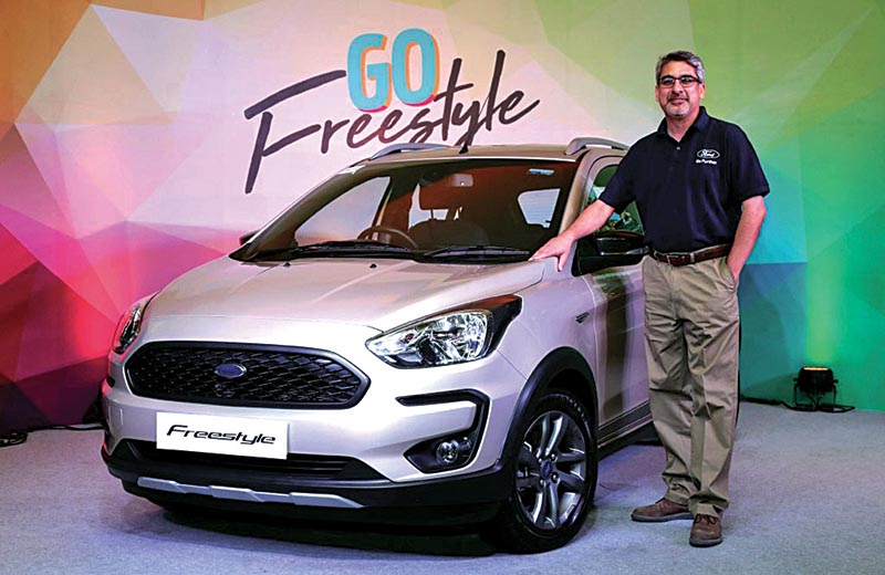 Anurag Mehrotra, President and MD, Ford India at the All-New Ford Freestyle launch in New Delhi. Photo Courtesy: Murad Ali Baig