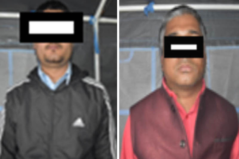 Two fraud suspects made public at the Metropolitan Crime Division. Courtesy: MCD