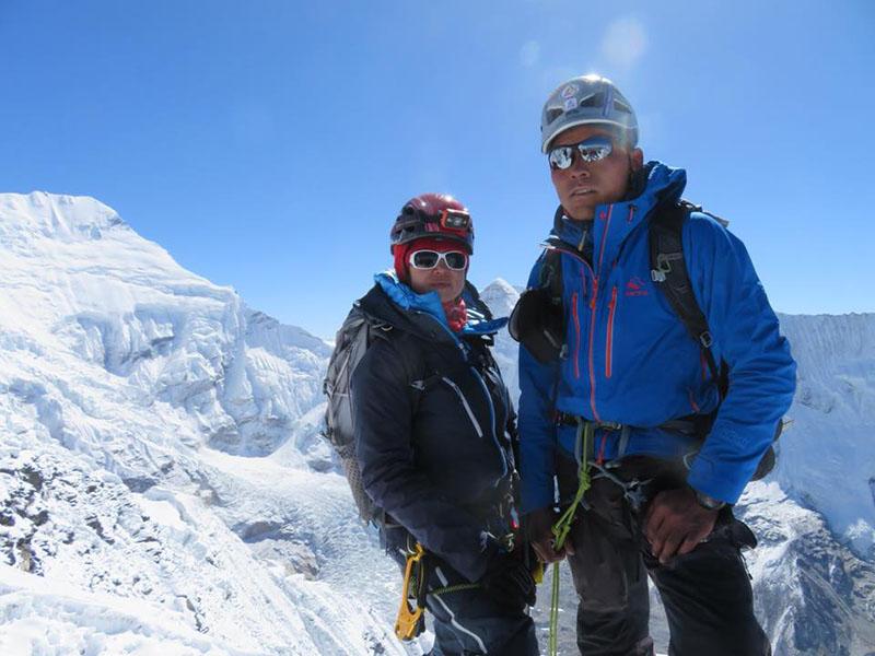 File Photo: Gao Xiao-Dan and Nima Gyalzen Sherpa. Courtesy: Nima Gyalzen Sherpa