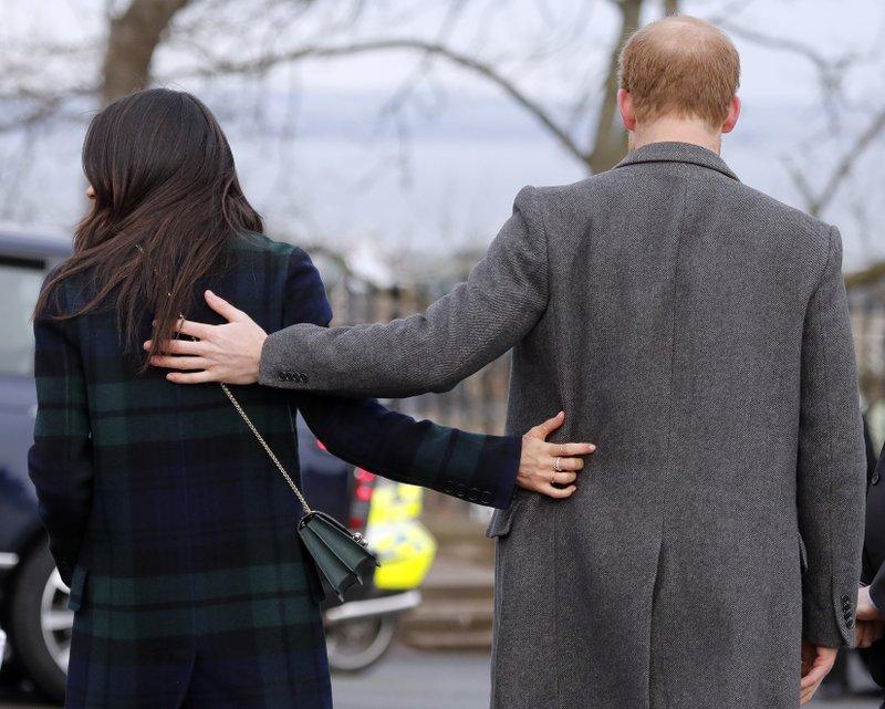 File - In this photo, Britainu2019s Prince Harry and his fiancee Meghan Markle arrive at Edinburgh Castle in Edinburgh, Scotland on Tuesday, Feb. 13, 2018. Photo: AP