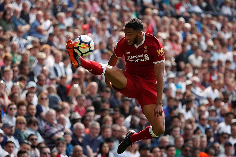 Liverpool's Joe Gomez in action. Photo: Reuters