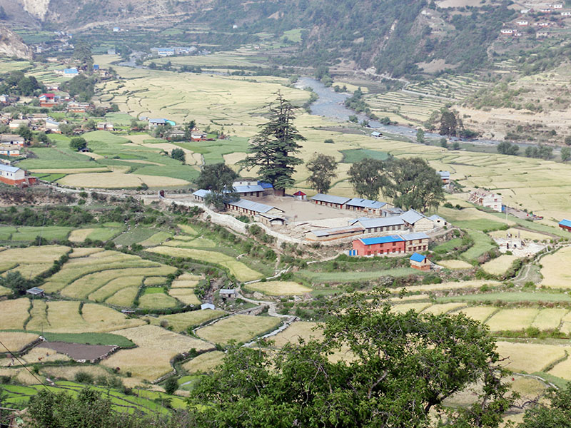 A spectacular view of Sija Valley in Jumla district, as captured on Tuesday, May 22, 2018. Photo: RSS
