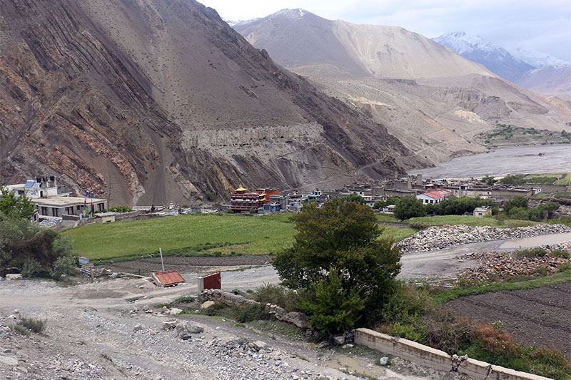 Kagbeni, famous religious site in trans-himalayan district of Mustang as captured on Monday, May 14, 2018. Photo: RSS