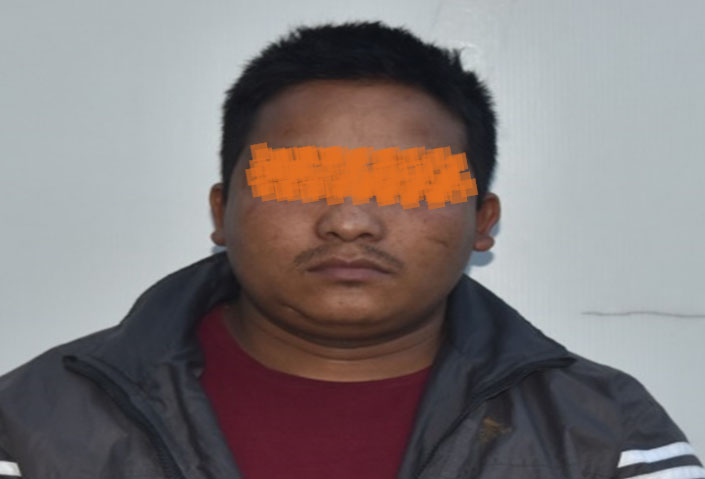 The suspect Kusal Bogati being made public at the Metropolitan Crime Division in Teku, Kathmandu, on Tuesday, May 15, 2018. Courtesy: MCD