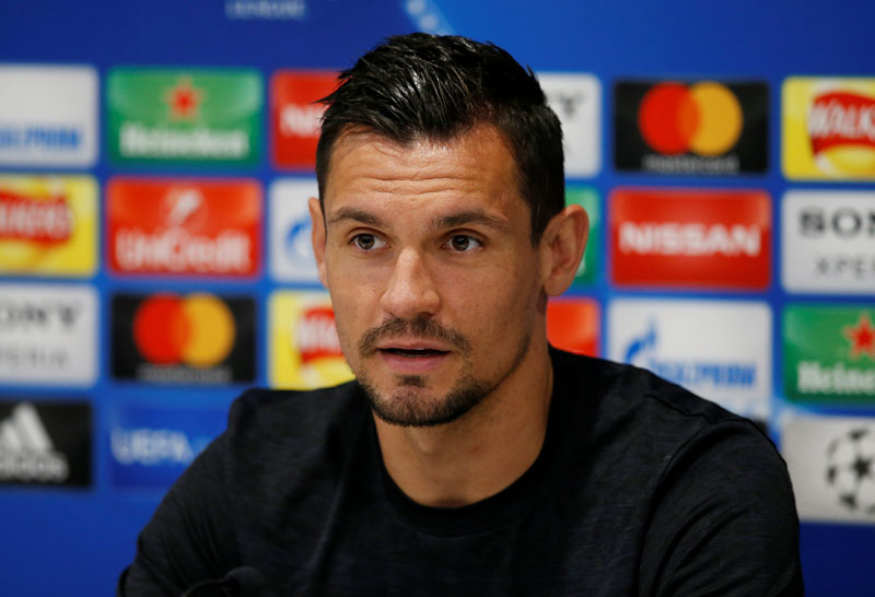 Liverpool's Dejan Lovren during the press conference, at Anfield, Liverpool, Britain, on May 21, 2018. Photo: Reuters