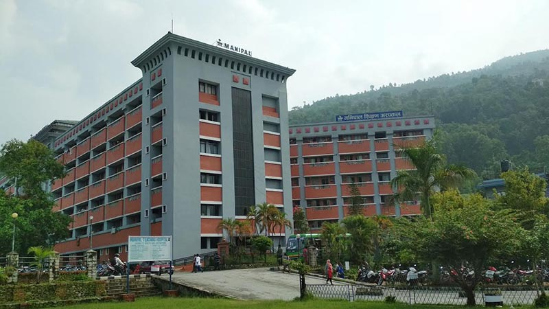 A view of Pokhara-based Manipal Teaching Hospital, in Kaski, on Tuesday, May 22, 2018. Photo: THT