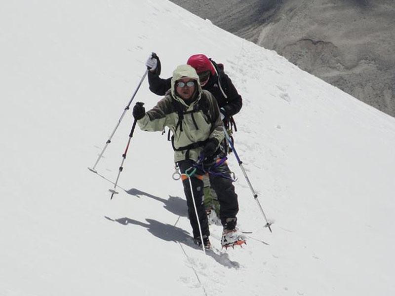 Japanese climber Matsumoto Tatsuo. Photo courtesy: Rishi Bhandari