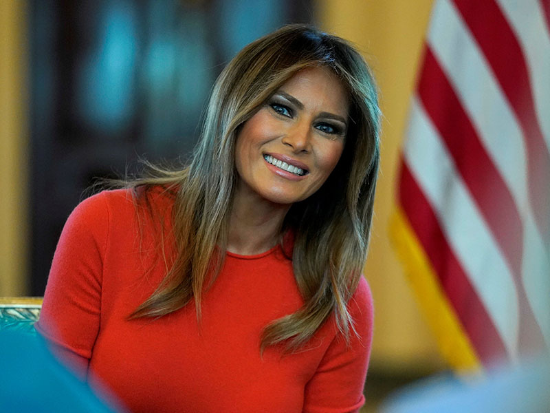 FILE PHOTO: U.S. first lady Melania Trump sits during a listening session with students at the White House in Washington, US, April 9, 2018. Photo: Reuters