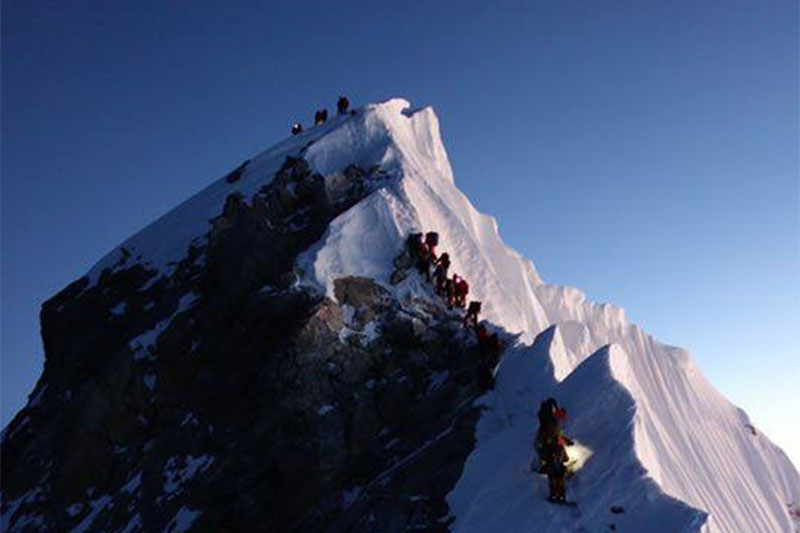 File photo of Mt Everest summit. Photo; Pasang Rinzee Sherpa