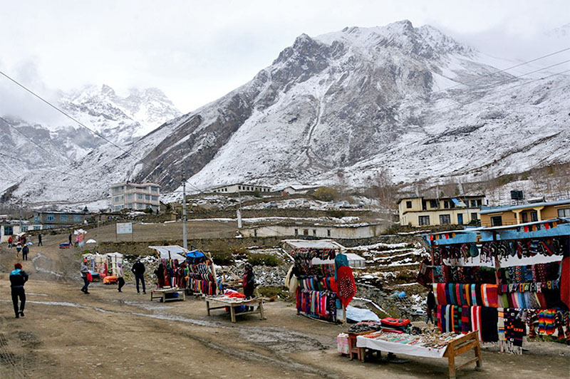 Muktinath area, a touristc destination in Trans-Himalyan district of Mustang, on Sunday, May 13, 2018. Photo: RSS
