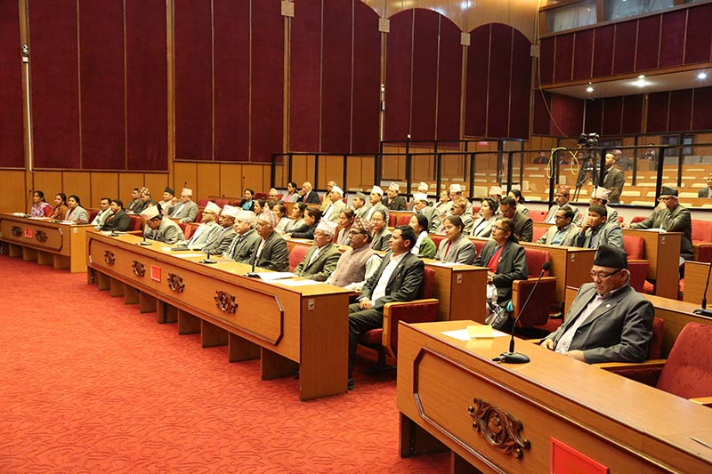 This undated image shows the lawmakers particiapting in the National Assembly meeting, in Kathmandu. Photo courtesy: National Assembly