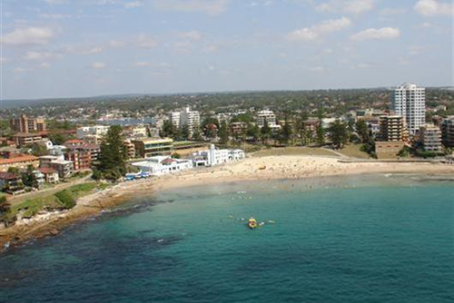 This undated image shows an aerial view of North Cronulla Beach in Sydney, Australia. Photo courtesy: sutherlandshire.nsw.gov.au