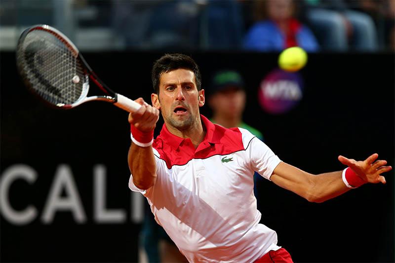 Serbia's Novak Djokovic in action. Photo: Reuters