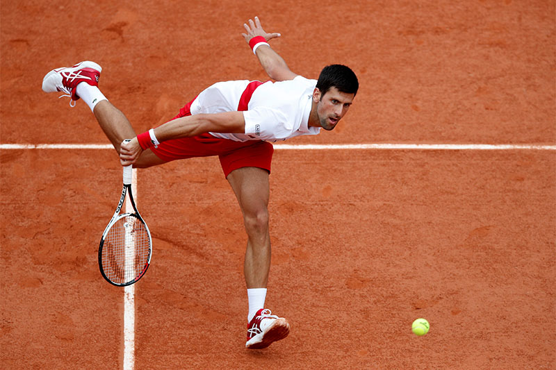 Serbia's Novak Djokovic in action during his second round match against Spain's Jaume Munar. Photo: Reuters