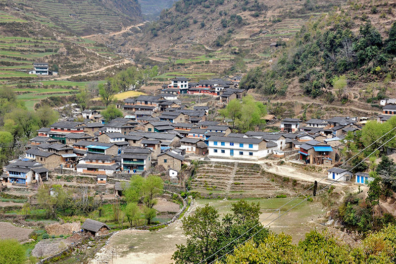 A view of Taman village in western Baglung, as captured on Wednesday, May 23, 2018. Photo: RSS