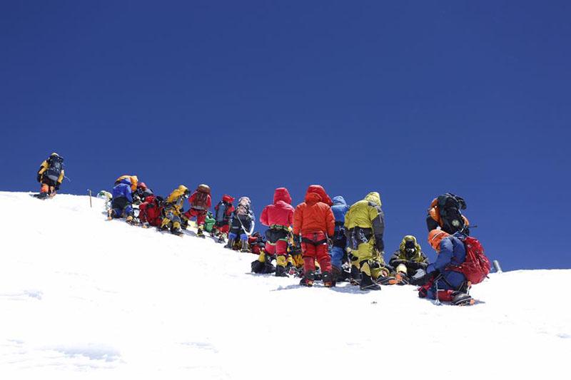 SNT Everest Expedition team on Mt Everest. Photo: Ben Jones