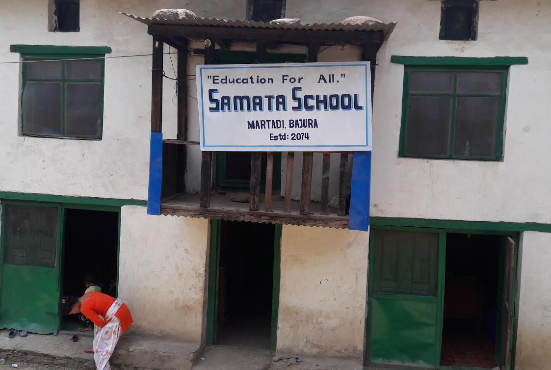 A view of Samata School, which is being illegally operated in Badimalika Municipality, Bajura, on Monday, May 28, 2018. Photo: THT