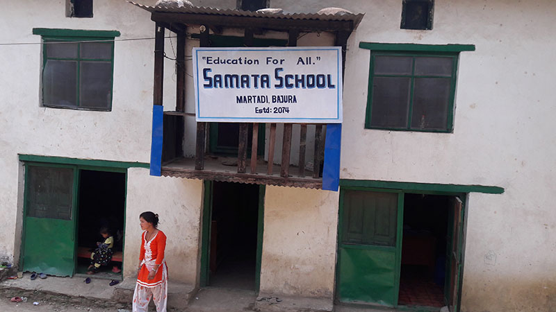 Building of Samata School, opened without permission, in Badimalika Municipality-8, of Bajura district, on May 28, 2018. Photo: Prakash Singh