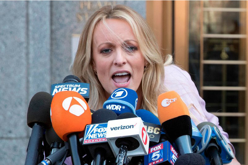 File photo of Stormy Daniels. Courtesy: AP