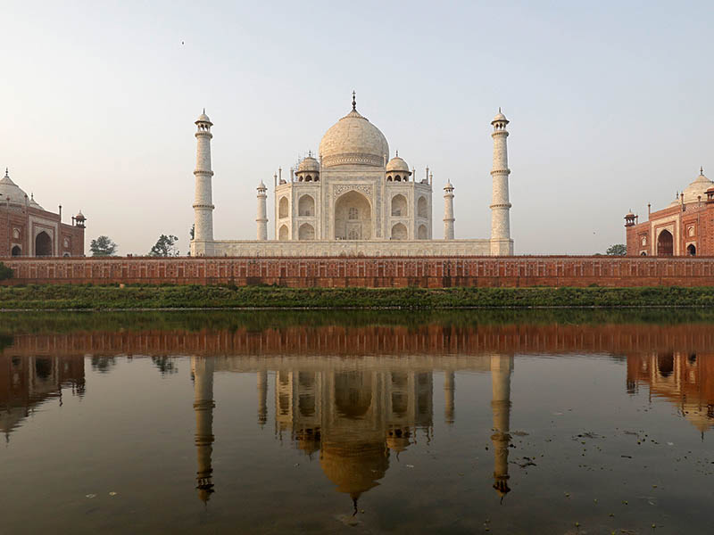 The historic Taj Mahal is pictured from across the Yamuna river in Agra, India, May 20, 2018. Photo: Reuters