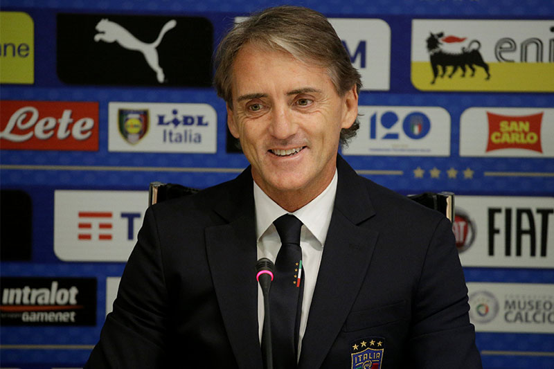 Soccer Football - Italy - Roberto Mancini Press Conference - Coverciano, Florence, Italy - May 15, 2018    New Italy coach Roberto Mancini during the press conference   REUTERS/Max Rossi