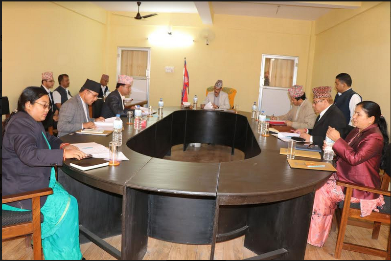 A cabinet meeting of Province 7 held on Wednesday, May 2, 2018. Photo: Tekendra Deuba