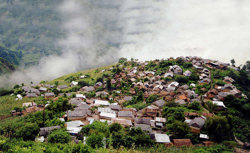 A view of Siurung village, in Lamjung district. Photo: Ramji Rana