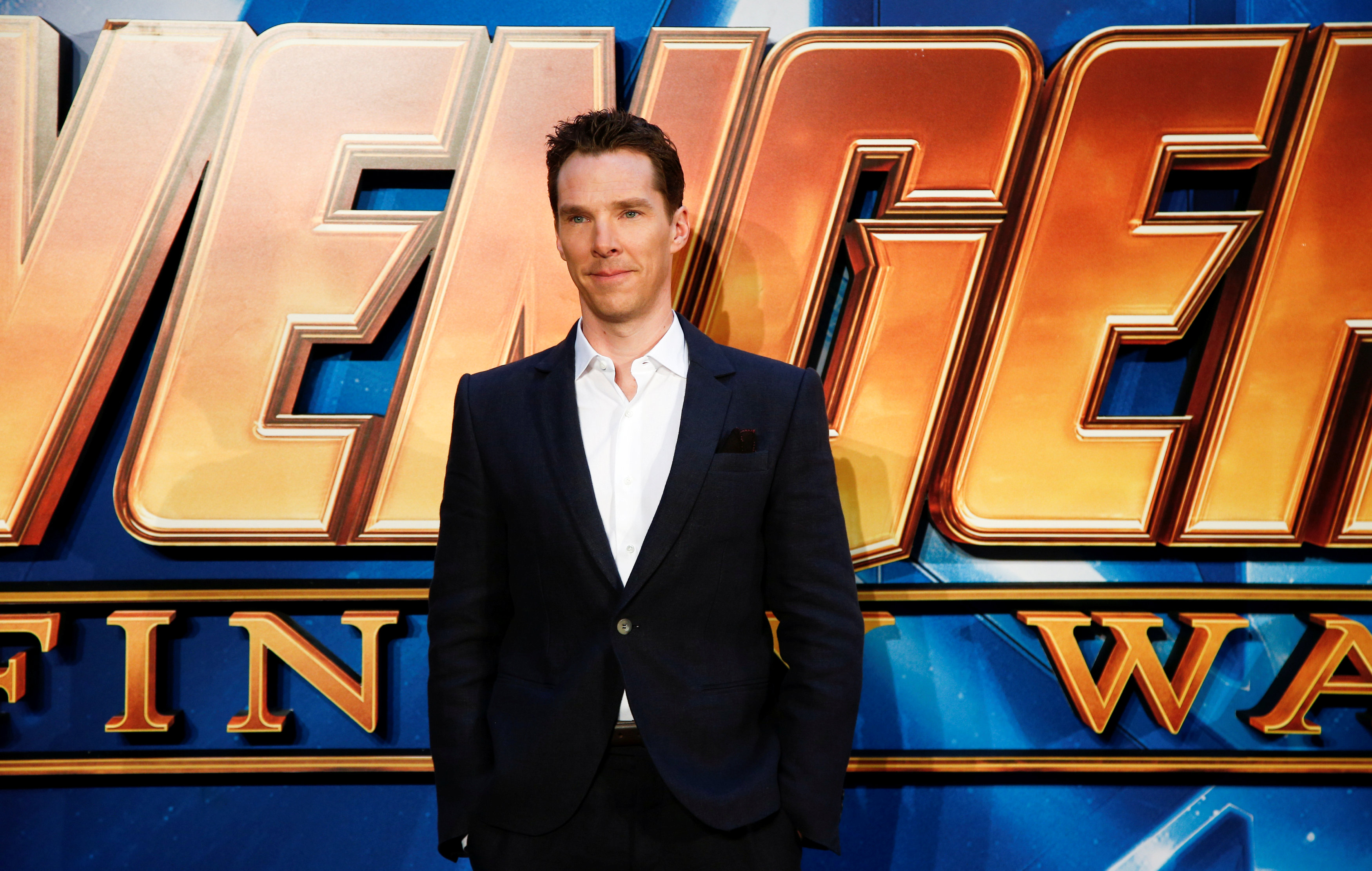 FILE PHOTO: Actor Benedict Cumberbatch attends the Avengers: Infinity War fan event in London, Britain April 8, 2018. Photo: REUTERS