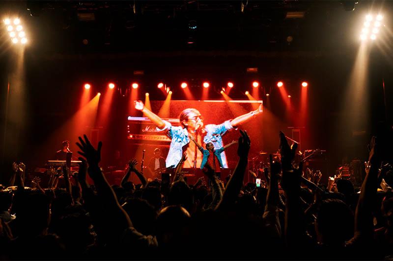 Nepathya performing live in concert in Boston. Photo: Milan Thapa
