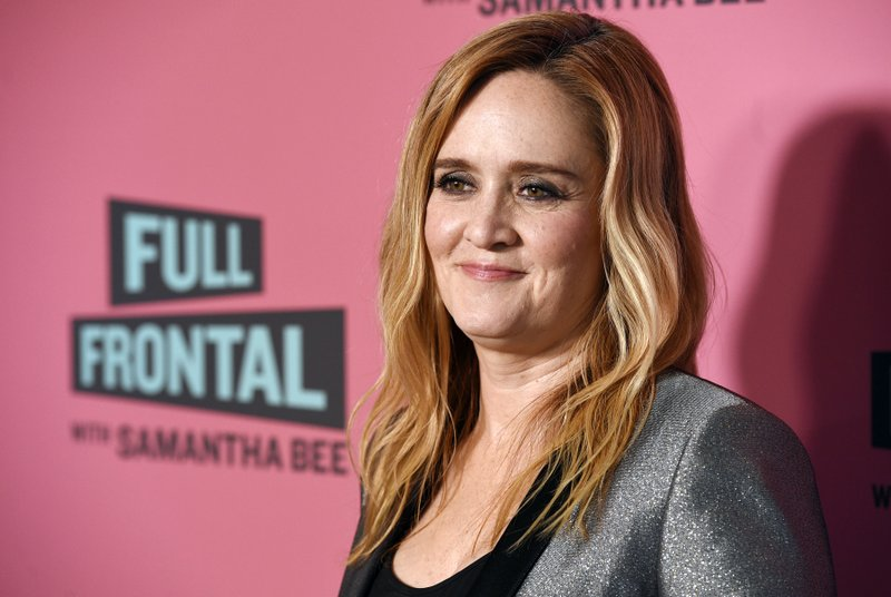 File - In this photo, Samantha Bee, host of u201cFull Frontal with Samantha Bee,u201d poses at an Emmy For Your Consideration screening of the television talk show at the Writers Guild Theatre in Beverly Hills, California on May 24, 2018. Photo: AP