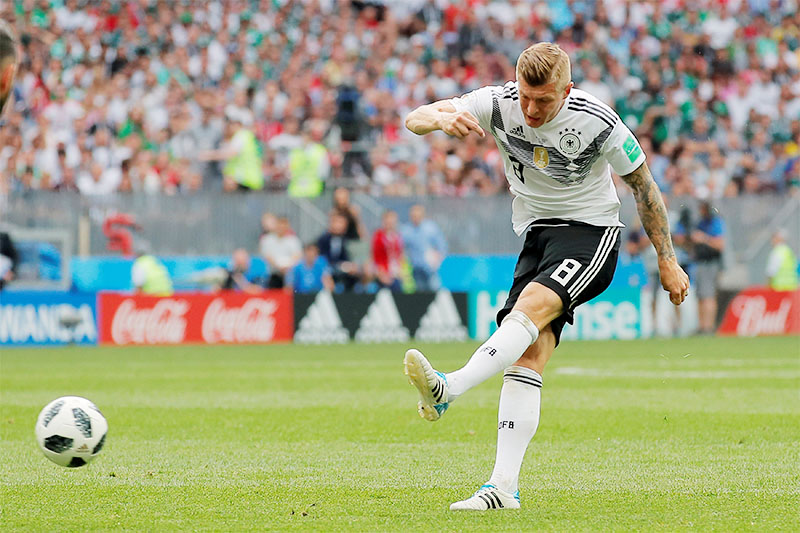 Germany's Toni Kroos in action. Photo: Reuters