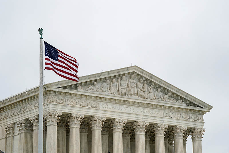 FILE PHOTO: The US Supreme Court is seen after the court revived Ohio's contentious policy of purging infrequent voters from its registration rolls, overturning a lower court ruling that Ohio's policy violated the National Voter Registration Act, in Washington, US, June 11, 2018. Photo: Reuters