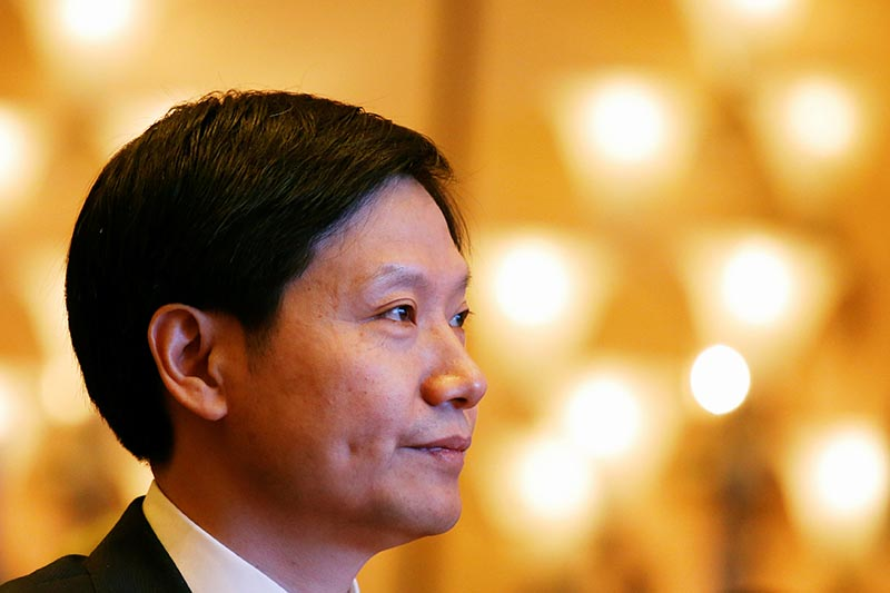 Xiaomi's Founder, Chairman and CEO Lei Jun attends a news conference in Hong Kong, China, on June 23, 2018.u00a0 Photo: Reuters