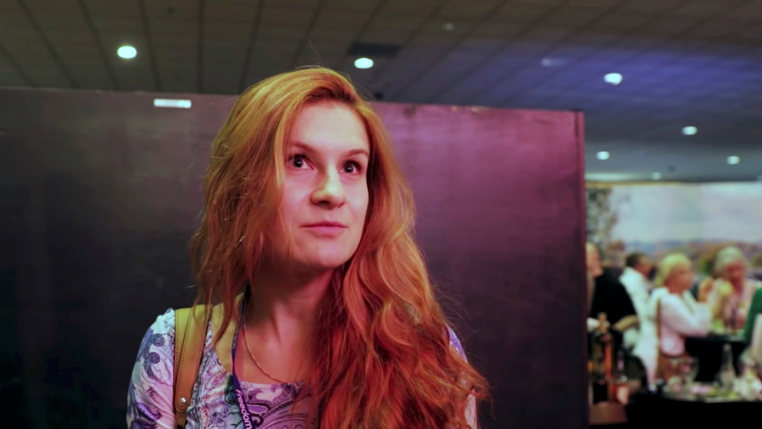 FILE PHOTO: Accused Russian agent Maria Butina speaks to camera at 2015 FreedomFest conference in Las Vegas, Nevada, U.S., July 11, 2015 in this still image taken from a social media video obtained July 19, 2018. FreedomFest. Photo:Reuters