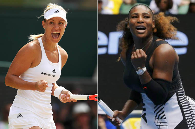 Germany's Angelique Kerber (left) and US's Serena Williams. Photos: Reuters