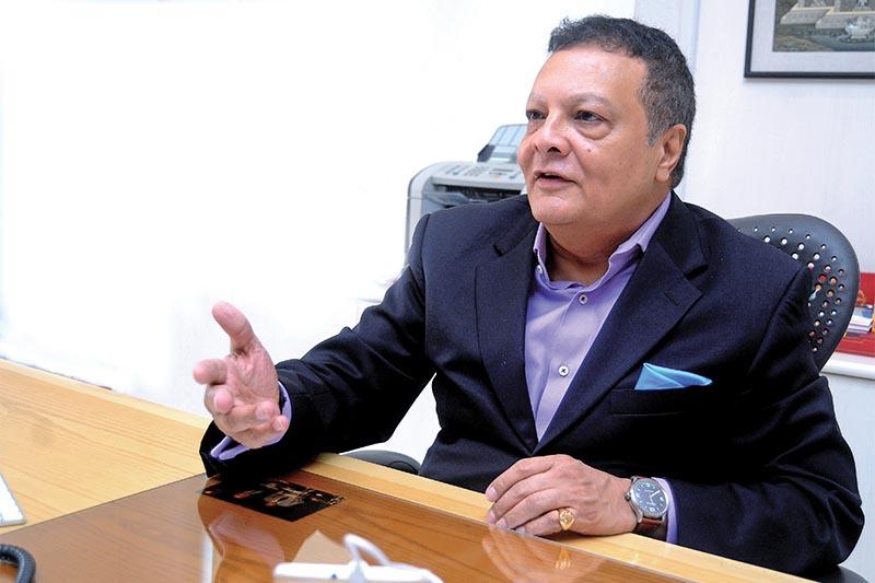 Interview with Ashoke Shumsher Rana, CEO, Himalayan Bank in Kamaladi, Kathmandu on Monday. Photo: Balkrishna Thapa Chhetri/ THT