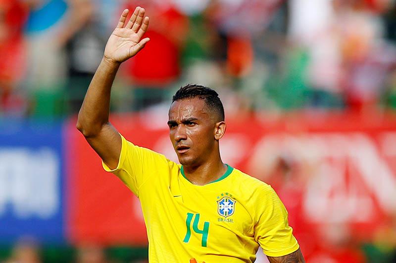 Brazil's Danilo after the match. Photo: Reuters
