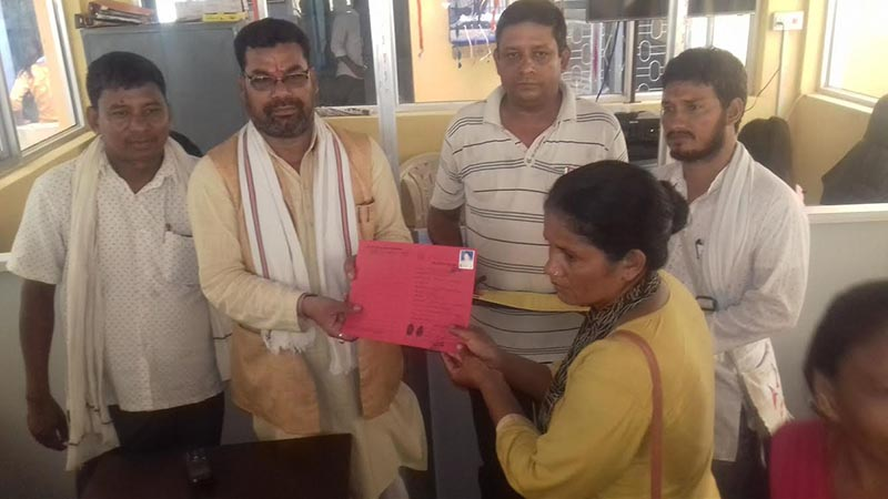 Dhangadi Sub-metropolitan City has started distributing identity cards to the poor households of all 19 wards in the sub-metropolis, on Friday, July 20, 2018. Photo: THT