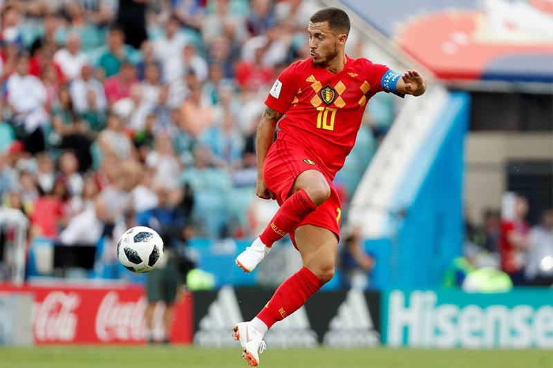 Belgium's Eden Hazard in action. Photo: Reuters