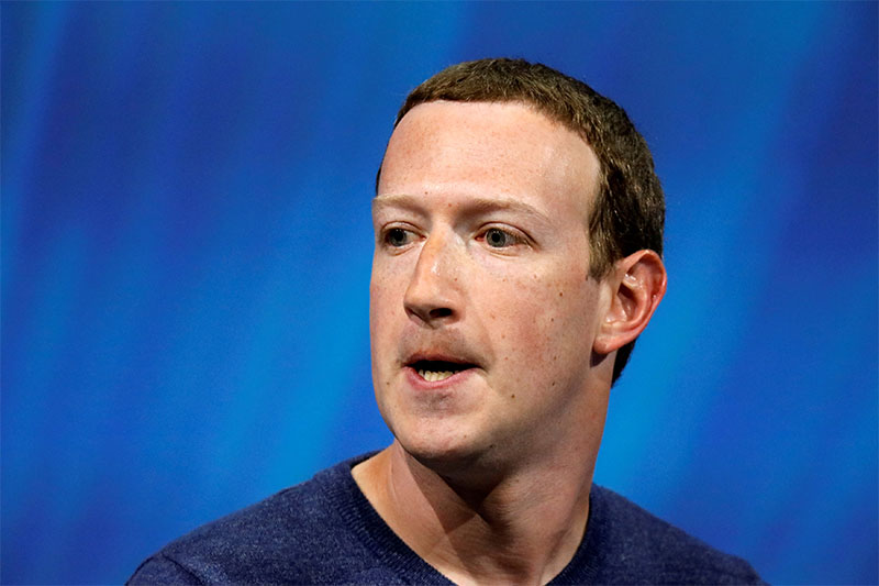 Facebook's founder and CEO Mark Zuckerberg reacts as he speaks at the Viva Tech start-up and technology summit in Paris, France, May 24, 2018. Photo: Reuters